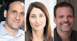 """מימין: היזם לירון רוז, דפנה וינוקור־בירן מקרן Janvest ואביחי מיכאלי, יועץ לסטארט־אפים. """"משלמים על הב, צילומים: אייל מרילוס, אוראל כהן"""