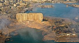 פיצוץ אש עשן זיקוקים מחסן נמל ביירות לבנון 16, צילום: איי פי