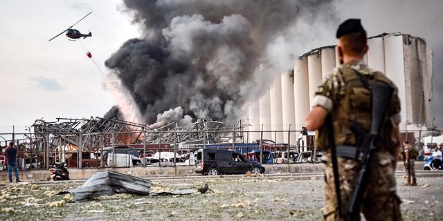 הפיצוץ בנמל ביירות, צילום: איי אף פי