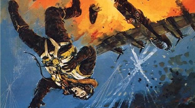 נפילה ממטוס הקברניט לנקסטר מלחמת העולם השנייה, צילום: anfrix