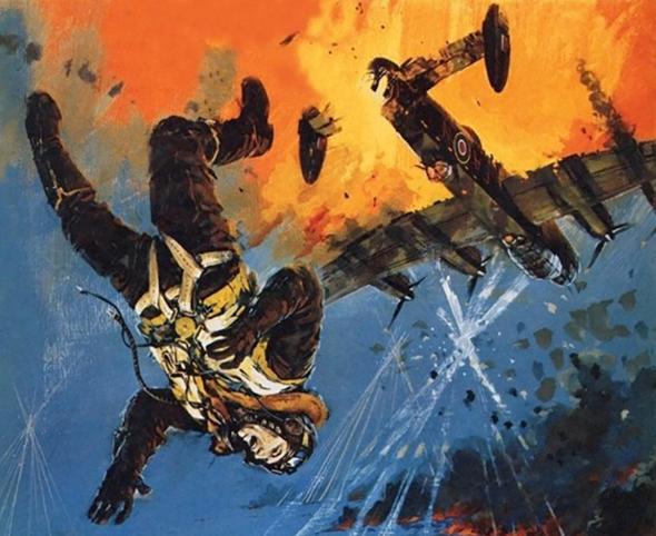 אלקמייד קופץ ממטוסו. אילוסטרציה, צילום: anfrix