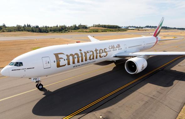 בואינג 777 של אמירייטס, צילום: emirates