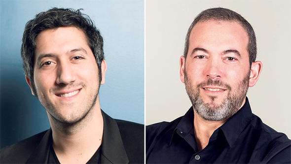 Taboola CEO Adam Singolda (left) and Outbrain CEO Yaron Galai. Photo: Orel Cohen