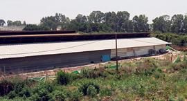 """השטח שבו תוכנן מרלו""""ג דיפלומט אזור תעשייה שפיים, צילום: נמרוד גליקמן"""