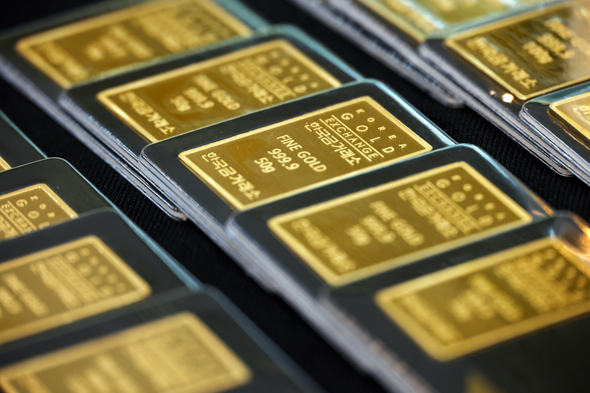 Gold prices are rising alongside the stock market. Photo:Reuters
