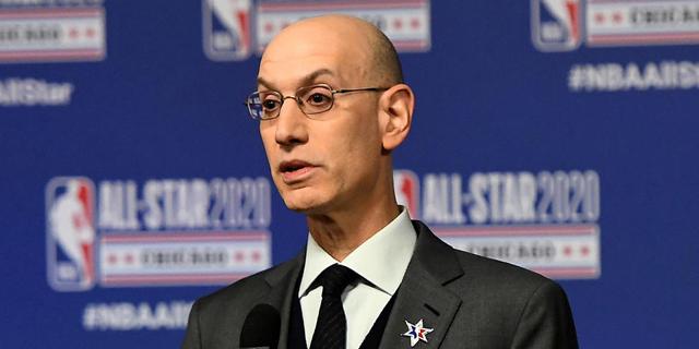 אדם סילבר, קומישינר ה-NBA, צילום: אי.אף.פי