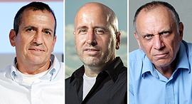 מימין: דב מורן, אבנר סטפק ואיל וולדמן, צילום: עמית שעל, אוראל כהן