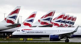 חברת תעופה בריטיש איירווייז BA נמל תעופה הית'רו לונדון מרץ 2020, צילום: רויטרס
