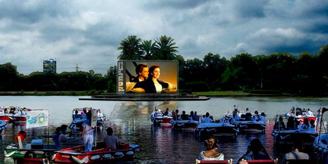 """יצירתיות בימי הקורונה: דרייב אין על המים בגני יהושע בת""""א"""
