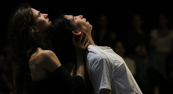 Israeli dancers train for a performance. Photo: Tamar Lam