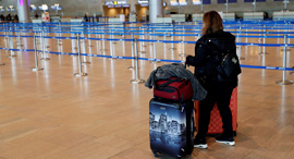 """אולם נוסעים יוצאים נתב""""ג קורונה חו""""ל טיסה טיסות 1, צילום: רויטרס"""