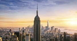 פוטו מבנים אייקוניים עם מדרגות אמפייר סטייט בילדינג ניו יורק , צילום: שאטרסטוק