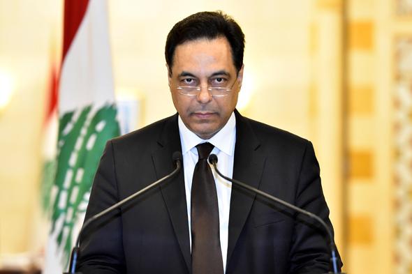 חסן דיאב מודיע על התפטרותו, צילום: EPA