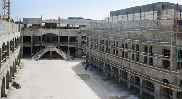 העבודות בדיזיין סיטי. לפי התחזיות כ-75% מתושבי מטרופולין ירושלים יבקרו במקום לפחות אחת לחודש