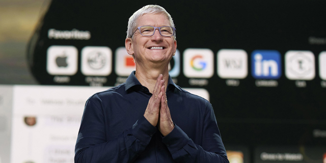 טים קוק. אפל לא מדווחת על רכישות קטנות, צילום: Apple