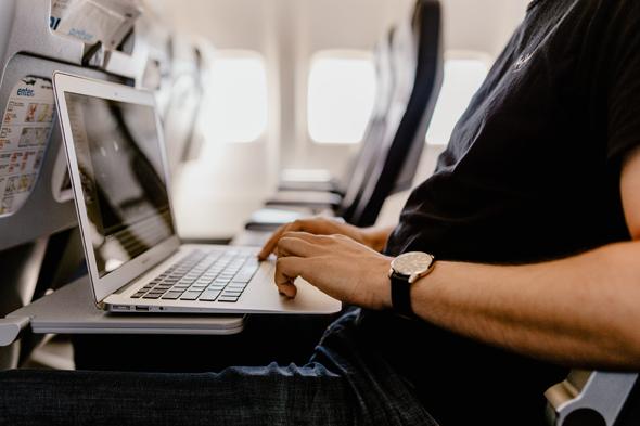 Passenger on Aircraft. Photo: DAG Wireless