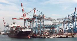 נתב ספינות ב נמל אשדוד אניות משא, צילום: אוראל כהן