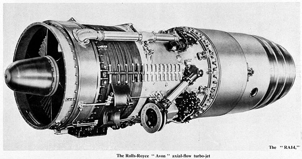 מנוע סילון רולס רויס אבון, מ-1954