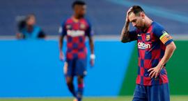 ליאו מסי ברצלונה באיירן מינכן 8-2 ליגת האלופות, צילום: אי אף פי