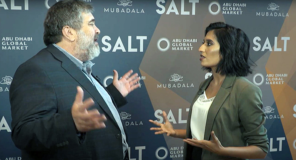 Jon Medved interviewed by Natasha D'Souza at the SALT conference in Abu Dhabi in Dec. 2019. Photo: SALT