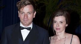 השחקן יואן מקגרגור ואשתו לשעבר איב מאברקיס, צילום: בלומברג