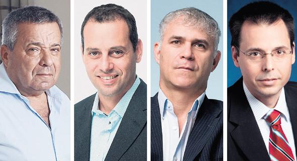 אייל בן סימון (מימין), ישי דוידי, רונן אגסי ואורי יהודאי. מכירות של 100 מיליון דולר בשנה, צילומים: דנה קופל, פאביאן קולדורף, יונתן בלום, ורדי כהנא, גיל נחושתן