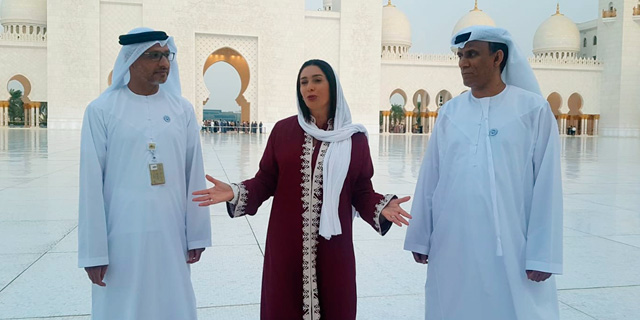 מירי רגב שרת התרבות בביקור במסגד שייח זייד באבו דאבי, צילום: חן קדם מקטובי