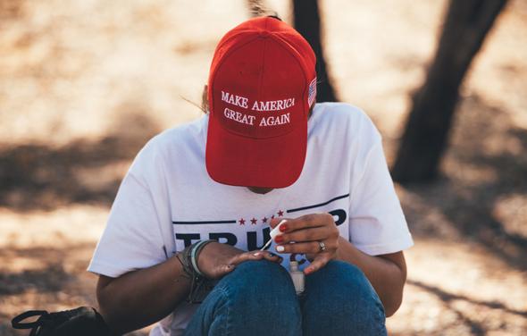 כובע MAGA, צילום: בלומברג