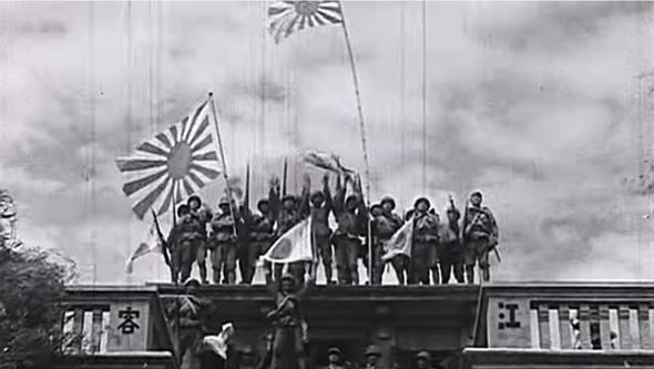 חיילים יפניים על גג אוניברסיטה סינית, צילום: kuaibao