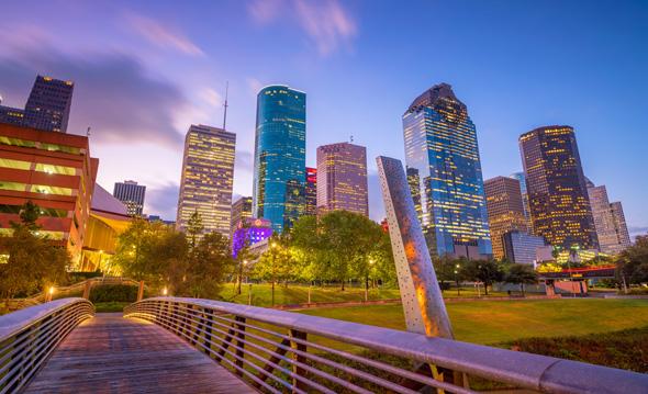 Downtown Houston's skyline. Photo: Shutterstock