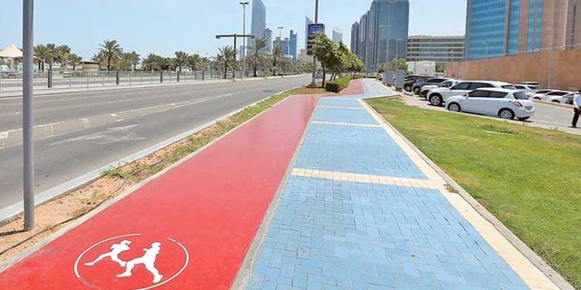 """הוקמו שבילי אופניים באורך כולל של כ-14 ק""""מ ומסלולי ריצה באורך של כ- 39 ק""""מ, צילום: Abu Dhabi Municipality"""