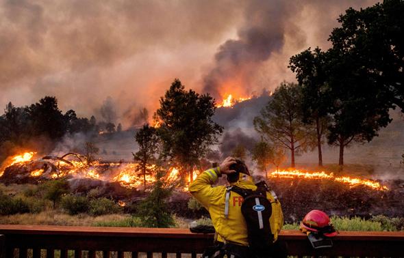 אש בקליפורניה, צילום: איי פי