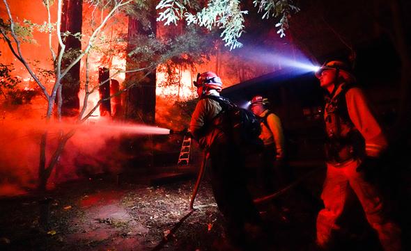 שריפות יער בקליפורניה, צילום: איי פי
