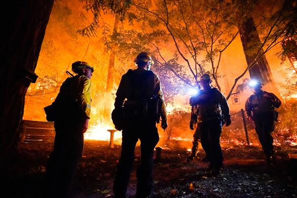 שריפת יער בקליפורניה, צילום: איי פי