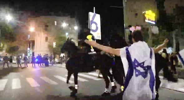 הפגנה מול מעון ראש הממשלה בירושלים, צילום: גיל יוחנן