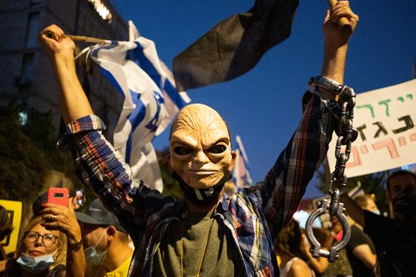 הפגנת הדגלים השחורים לדי המעון בבלפור, צילום: יואב דודקביץ