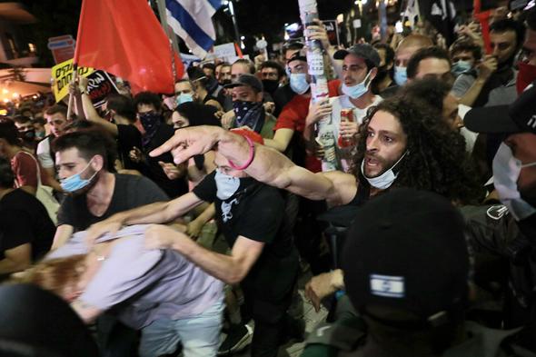 הפגנת מחאה בשל משבר הקורונה