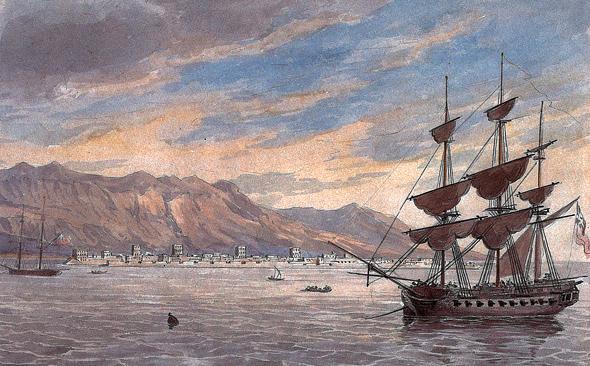 מפרץ הפיראטים, ציור מ-1809