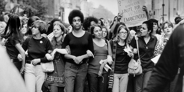 שביתת הנשים בניו-יורק, לפני 50 שנה, צילום: גטי אימג