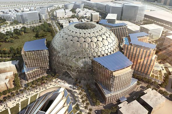 מבנה תערוכת האקספו 2020 באבו דאבי