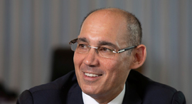 פרופסור אמיר ירון נגיד בנק ישראל , צילום: אלכס קולומויסקי