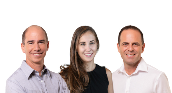 Pitango HealthTech Fund: Ittai Harel (left), Managing Partner; Maya Perl, Principal; Guy Ezekiel, M.D., Managing Partner. Photo: Yoram Reshef