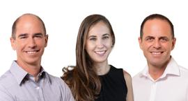 Pitango HealthTech Fund: Ittai Harel (left), Managing Partner; Maya Perl, Principal; Guy Ezekiel, M.