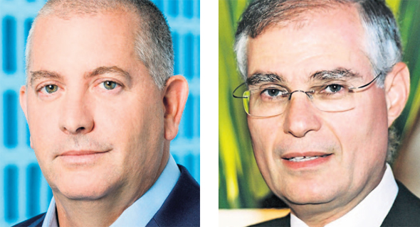 Ari Kalman (right), CEO of Menorah-Mivtachim and Avi Ortal, CEO of Leumi Partners. Photo: Ore Dai and Doron Gilad