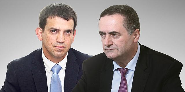 ישראל כץ ושאול מרידור, צילום: אלכס קולומויסקי, עמית שאבי
