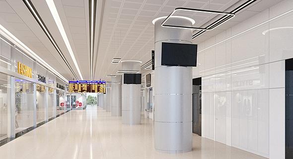הדמיית המרכז המסחרי בתחנת לוד