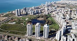 פרויקט VILAGO זירת הנדלן, צילום אוויר: EYES-ON