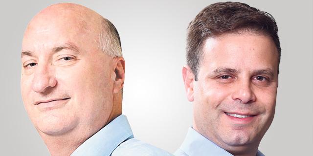 """מימין: מנכ""""ל bringg גיא בלוך ובעל השליטה באמות, נתן חץ, צילומים: אוראל כהן, עמית שעל"""