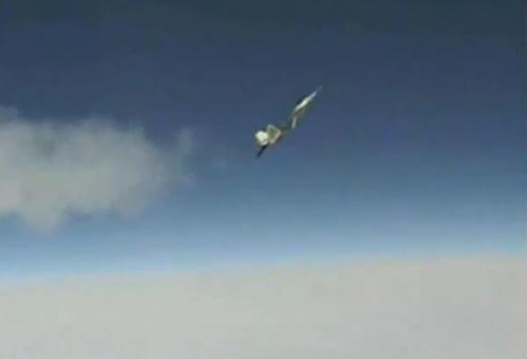 טיסה בזווית התקפה גבוהה, אחת התמונות ששלחה לוקהיד מרטין לפנטגון