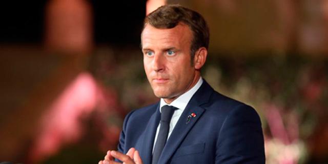 נשיא צרפת עמנואל מקרון. אירופה תחילה, צילום: בלומברג